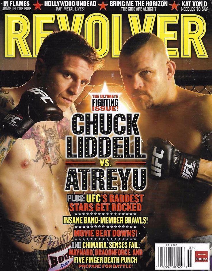 Revolver magazine Chuck Liddell Atreyu Ultimate fighting issue Chimaira Maynard