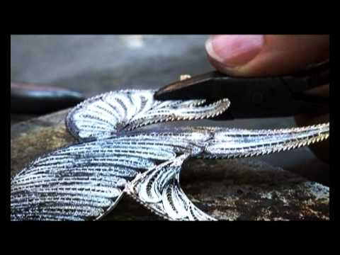 BANIF BANK BRAND (FILIGREE). Filigree artefact made by Charmaine Gerada which was filmed in a promotional commercial created by Banif Bank