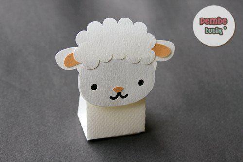 Sheep box - make bigger for packaging yarn... Good craft for kiddos