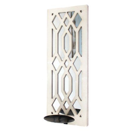 Screen Gems White Candle Holder WD-114