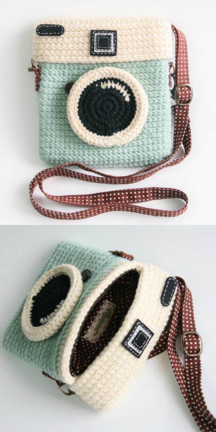 Crochet Camera Purse The Best Ideas, Free Crochet Pattern and Video Tutorial