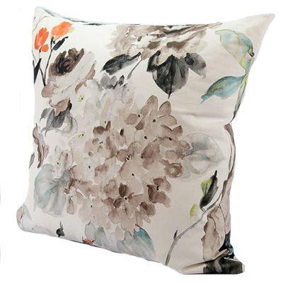 Fleur Aqua from www.designarthouse.com.au.  Stunning decorative Fleur Cushion with feather insert. Made in Australia from 100% cotton.   Dimensions: 50cm x 50cm