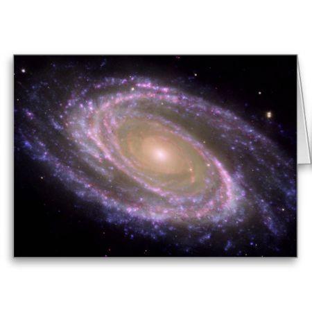 M81 Galaxy is Pretty in Pink Card