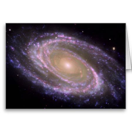M81 Galaxy is Pretty in Pink Card