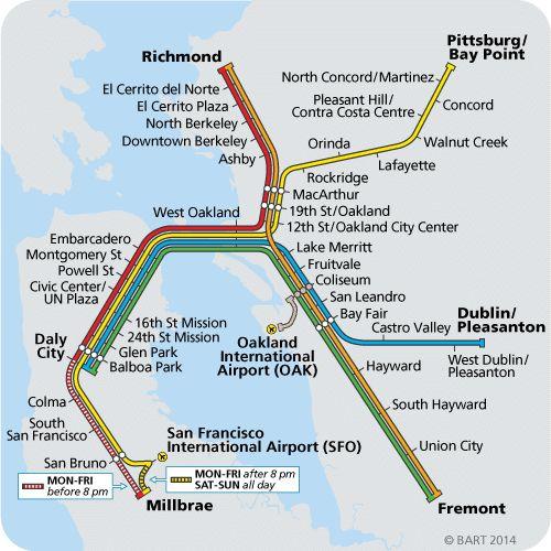 BART Map/San Fran