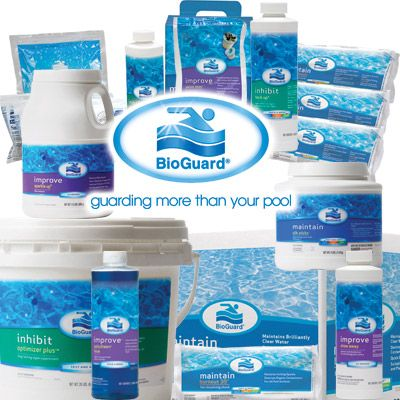 Don't forget to check your pool's chlorine and pH levels. We carry a full line of Bioguard products to keep your pool in tip-top shape this year!