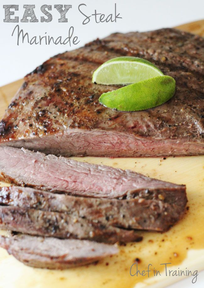 Easy Steak Marinade! Delicious and extremely simple! www.chef-in-training.com