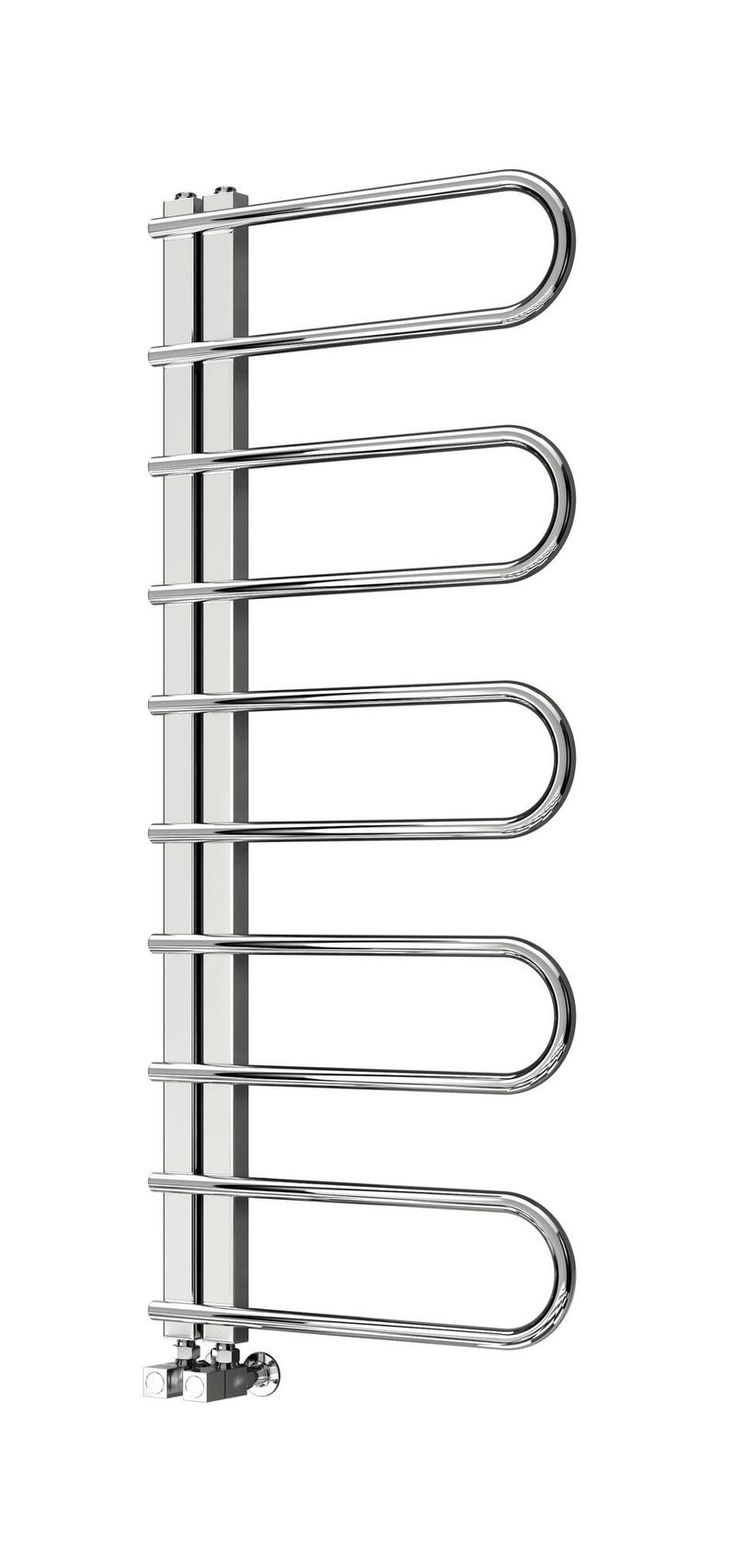 The Reina Oglio Stainless Steel Towel Radiator is a stand-out design, with a rounded asymmetrical look. Free UK Delivery.