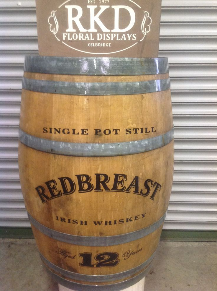 REDBREAST branded barrel done by RKD Floral displays