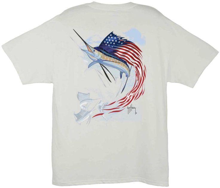Guy Harvey Shirts - Guy Harvey Star Spangled Guy Men's Back-Print Tee w/ Pocket in Yellow or White, $19.95 (http://www.guyharveyshirts.com/guy-harvey-star-spangled-guy-mens-back-print-tee-w-pocket-in-yellow-or-white/)