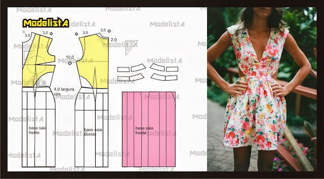 ModelistA: V Neck Sundress with Side Cutouts