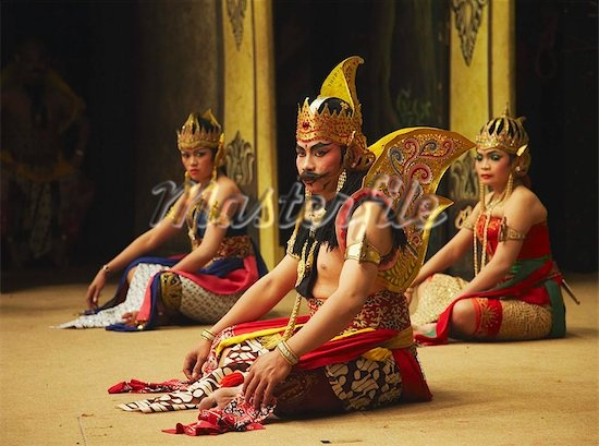 Traditional Dancers in Solo, Java, Indonesia