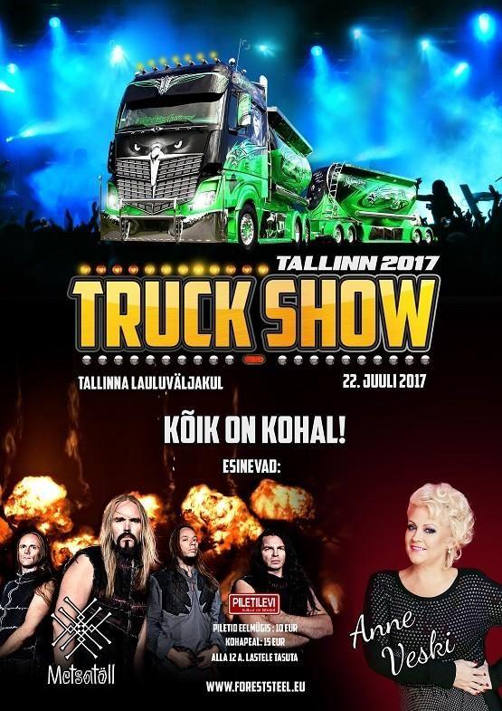 Tallinn Truck Show 2017 - 22.07.2017 - Tallinna lauluväljak - Piletilevi.ee