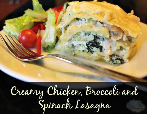Spinach Lasagna Recipe with Chicken and Broccoli