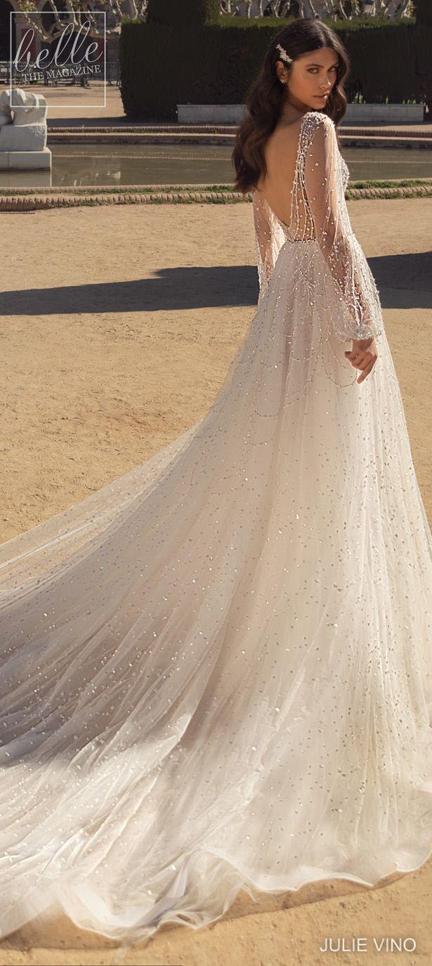 Julie Vino Wedding Dresses 2020 Belle The Magazine Wedding Dress Long Sleeve Wedding Dresses Beaded Sheer Wedding Dress [ 1375 x 615 Pixel ]