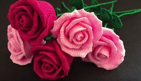 Crochê Gráfico: Lindas rosas de crochê