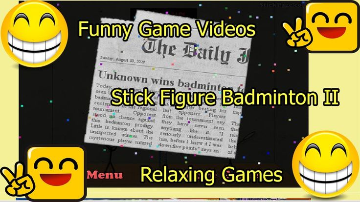 Funny Game Videos   Relaxing Games   Stick Figure Badminton II # 3