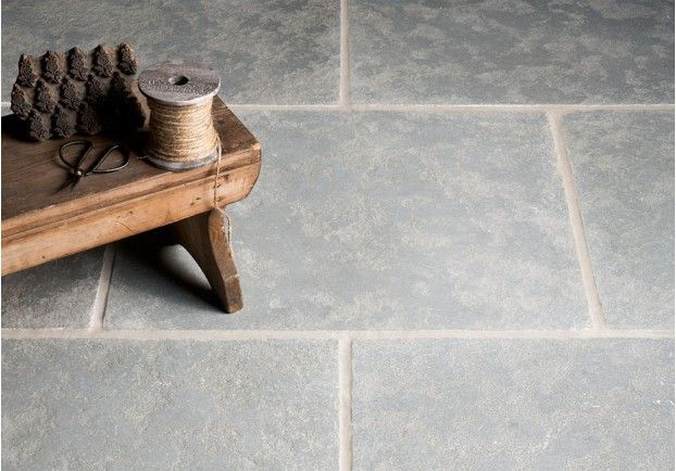 Worn Grey Limestone Tiles | Floors of Stone