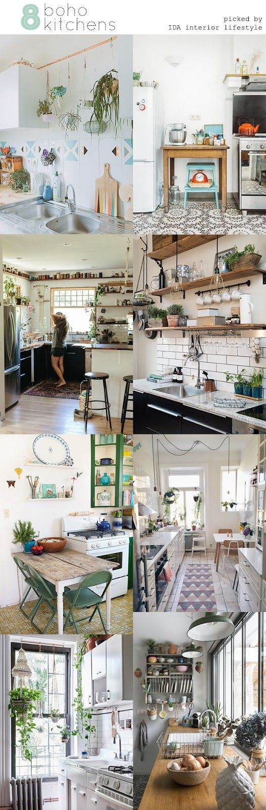 IDA interior lifestyle: 8 boho kitchens Home & Kitchen - Kitchen & Dining - kitchen decor - http://amzn.to/2leulul