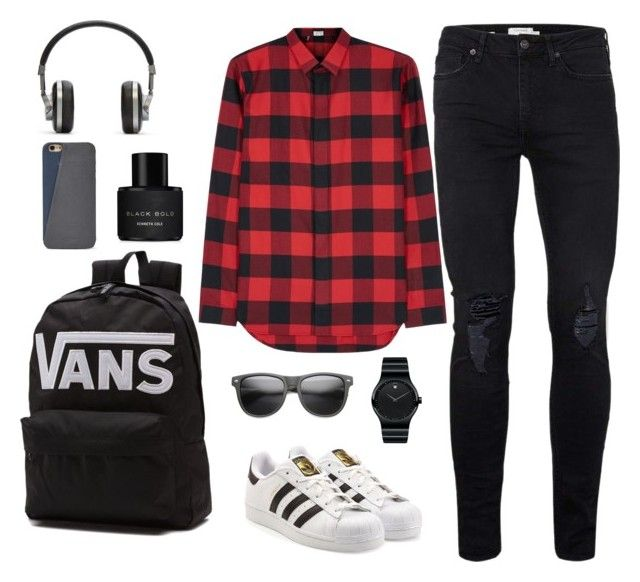 """""""Street fashion✨"""" by han-nastya on Polyvore featuring Topman, Dior Homme, adidas Originals, Movado, Vans, Master & Dynamic, FOSSIL, ZeroUV, Kenneth Cole и men's fashion"""