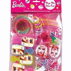 A393338 - Barbie 42pc Favor Pack Favor Set 42 Piece Barbie Includes an array of brightly colored Barbie favors. Please note: approx. 14 day delivery day