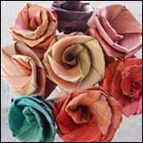 Fabulous flax flowers - make them yourself following the instructions in Ali Brown's book