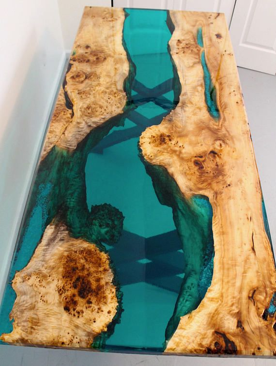 FREE SHIPPING on this turquoise resin river dining…