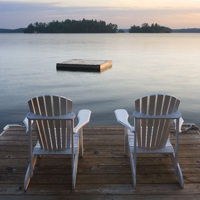 Muskoka Chairs On The Lake Adirondack