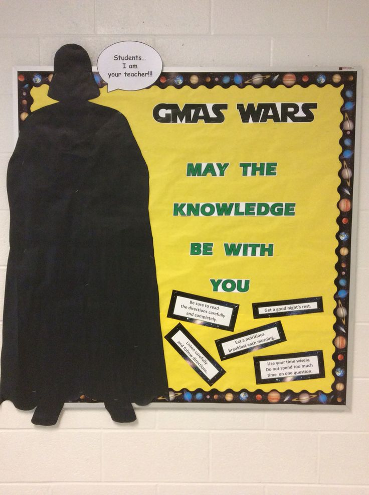 Summer Classroom Decorations ~ Star wars bulletin board quot may the knowledge be with you