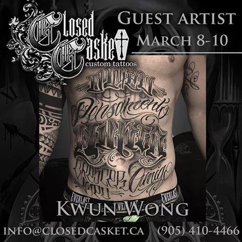 Closed Casket Custom Tattoos