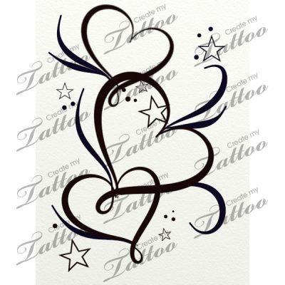 >> Market Tattoo hearts stars and filigree #20764 | CreateMyTattoo.com...