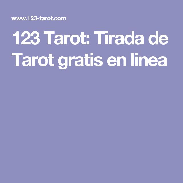 123 Tarot: Tirada de Tarot gratis en linea