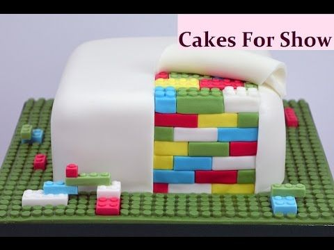 """There are many variations of a Lego brick cake. This is how I made mine. I began with a 6"""" square cake. Music - Thatched Villagers - Kevin MacLeod (incompete..."""