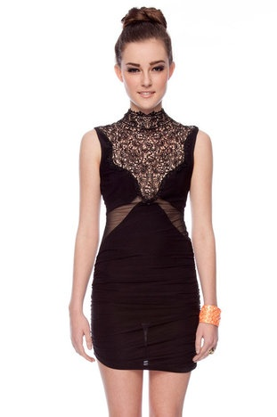 I want this! The Laces Are High Dress in Black $30 at www.tobi.com