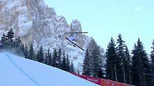Der spektakuläre Sturz von David Passion -Den Rekord stellte Michael Walchhofer 2003 mit einem 88-Meter-Satz auf. Nicht immer gingen Stürze wie jener von David Poisson im Jahr 2010 glimpflich -  Video