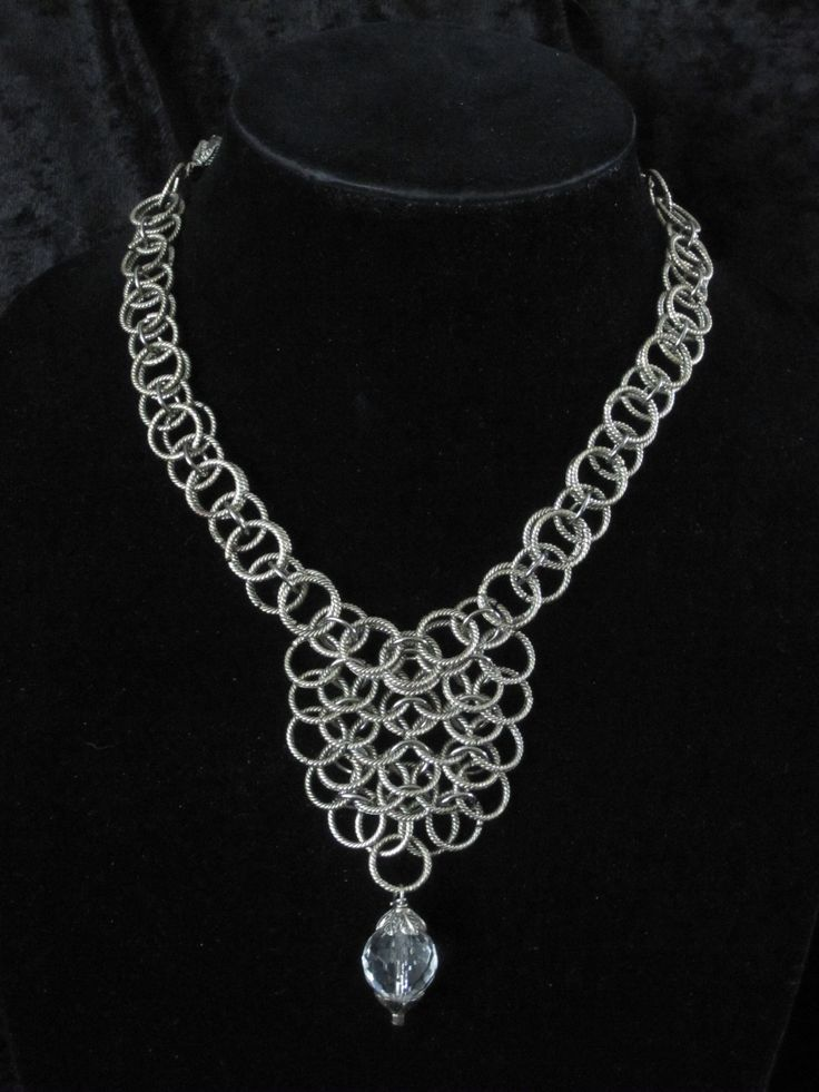 Twisted Rings and Crystal Pendant