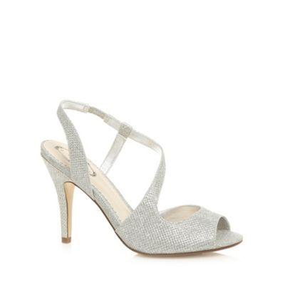 Debut Silver metallic high curve sandals- at Debenhams.com