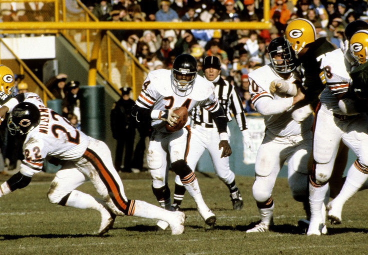 Walter Payton, Chicago Bears - met him in green bay for Bears Packers match up