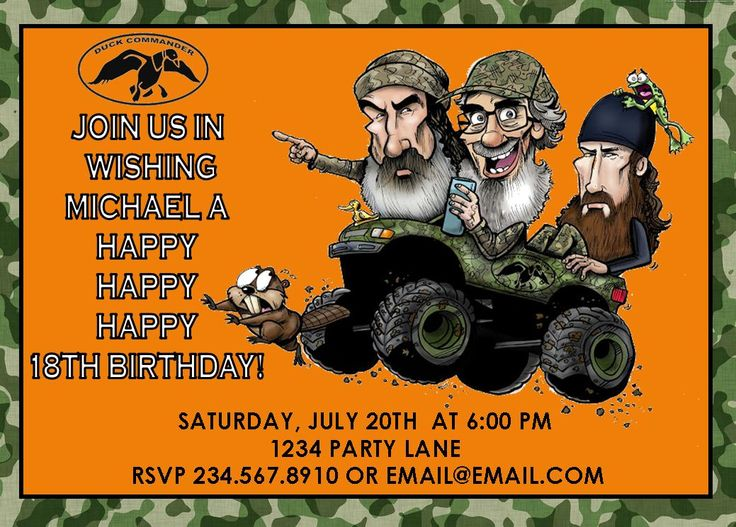 41 Best Images About Duck Dynasty Party Supplies On. Duck Dynasty Invitation
