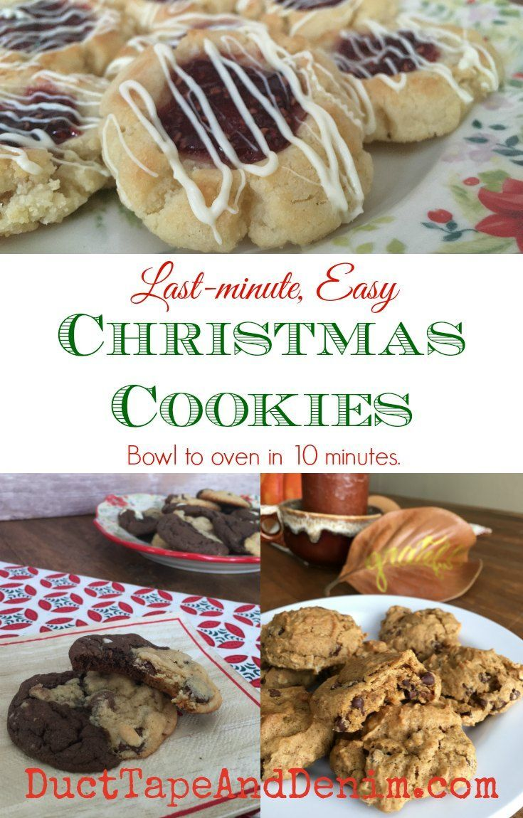 Last-minute, easy Christmas cookies! More cookie recipes on DuctTapeAndDenim.com