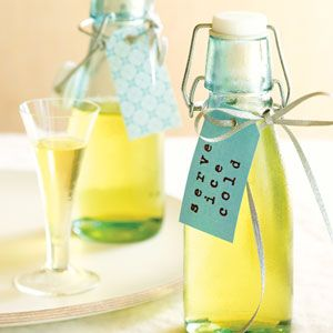 Limoncello favors or rehearsal dinner treat.