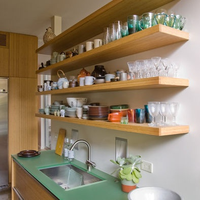 Hanging Kitchen Shelves Design, Pictures, Remodel, Decor and Ideas - page 6