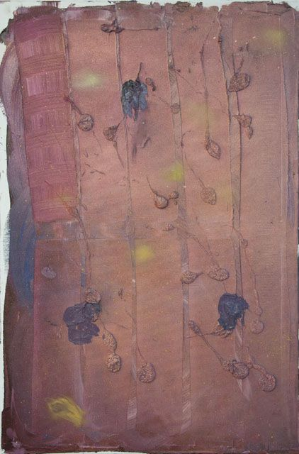 Stella Corkery, Untitled 92, oil and spray paint on readymade canvas and stretcher,  610mm x 910mm