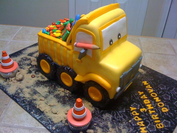 Dump truck Birthday cake/tetyanaskitchen.com