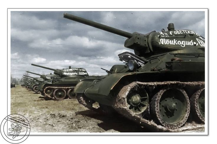 Tanks T-34.76 Model 1941 of Estonian units of the Red Army, Eastern Front, Moscow, 1941.