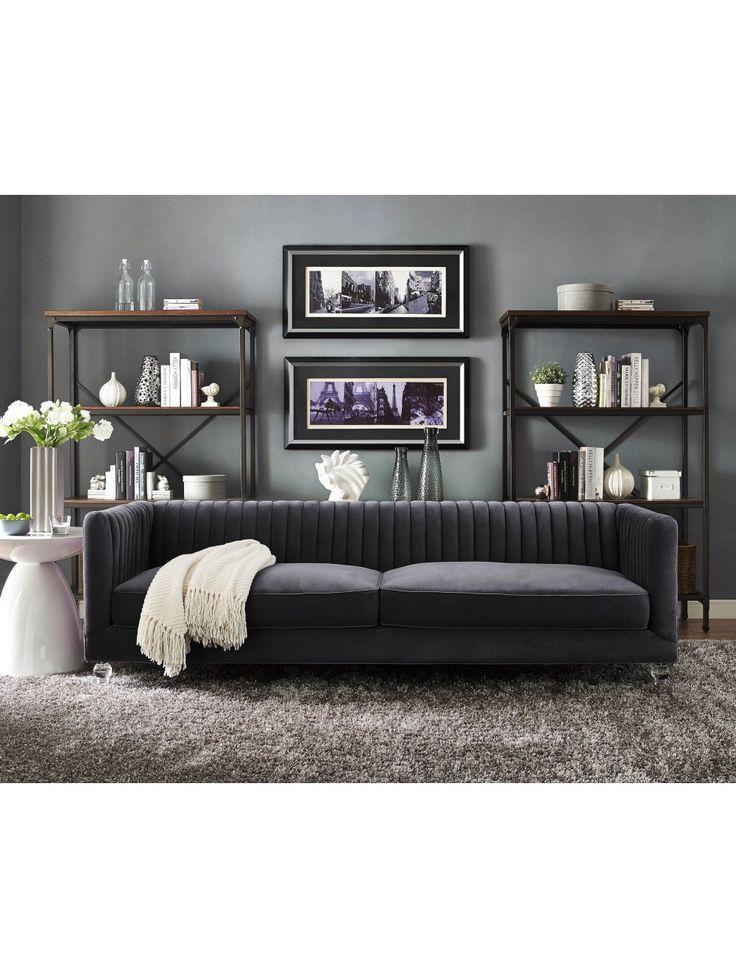 Great  best Gray velvet sofa ideas on Pinterest Grey velvet sofa Dark gray sofa and Silver velvet sofa