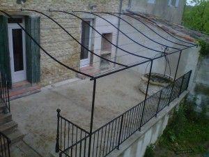Best 25 iron pergola ideas on pinterest french patio terrace garden and modern pergola - Pergola metal adossee ...