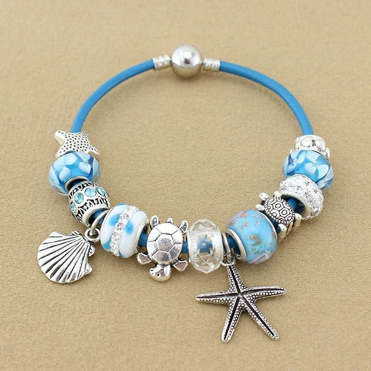 Sea Turtle Starfish charm bracelets
