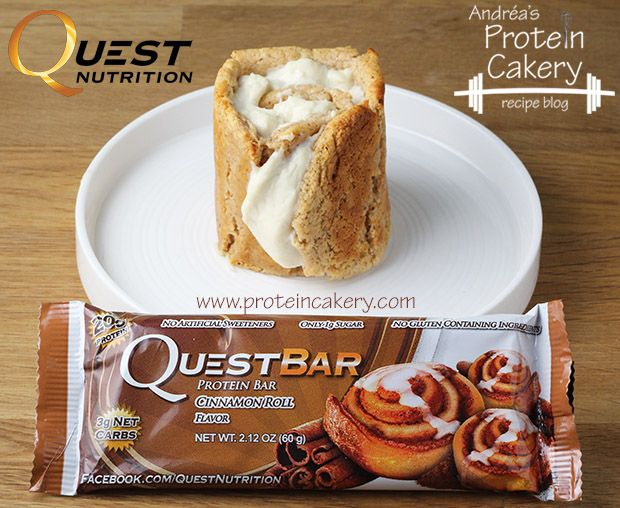 Quest Bar Cinnamon Cheesecake Roll - Andréa's Protein Cakery http://papasteves.com