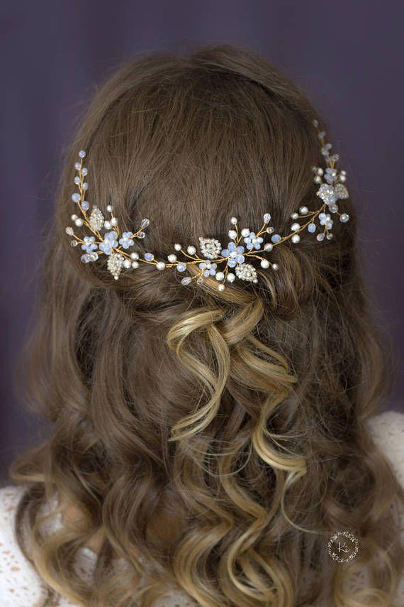 Bridal Hair Vine Wedding Hair Piece Pearl Headband Wedding Bridal Hair Jewelry Crystal Hair Wreath